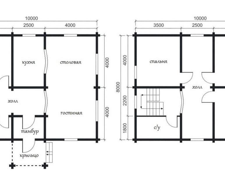 Дом из оцилиндрованного бруса ОБ-30 (нажмите для увеличения)