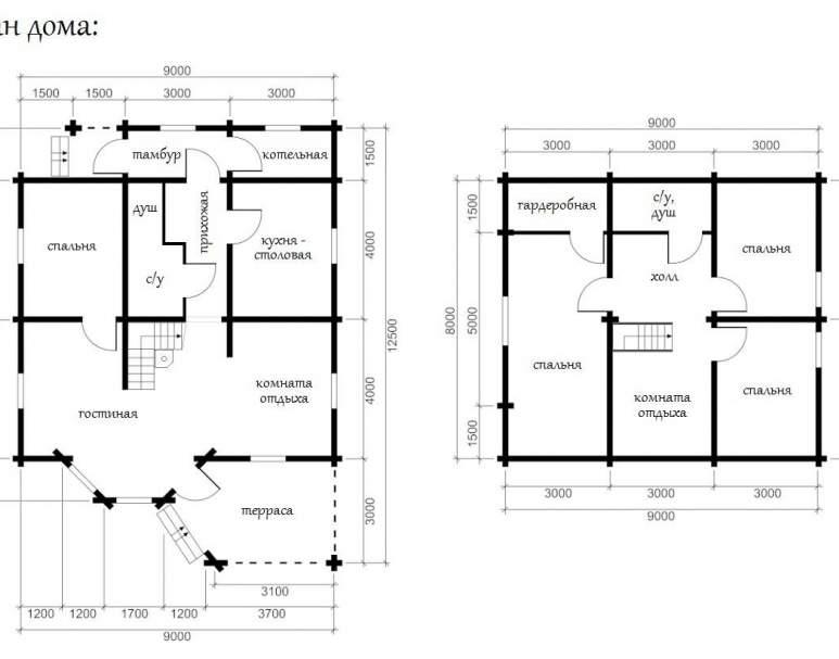 Дом из кругляка ОБ-33 (нажмите для увеличения)