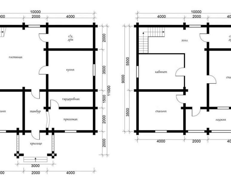 Дом из кругляка ОБ-34 (нажмите для увеличения)