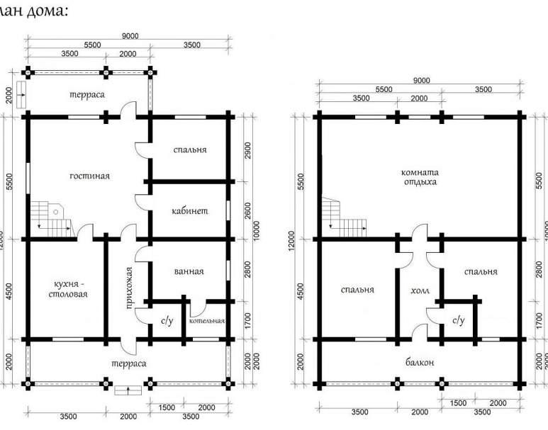 Дом из кругляка ОБ-37 (нажмите для увеличения)