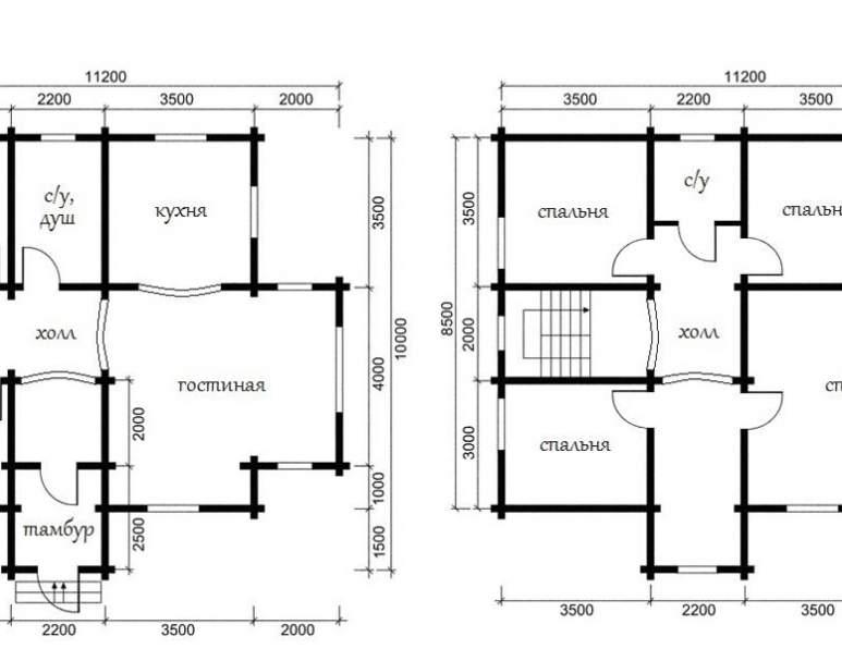 Дом из оцилиндрованного бревна ОБ-39 (нажмите для увеличения)
