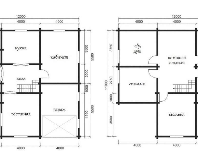 Дом из оцилиндрованного бруса ОБ-40 (нажмите для увеличения)