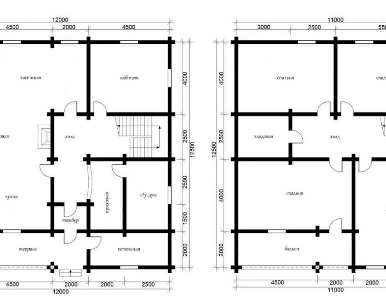 Дом из кругляка ОБ-41 (нажмите для увеличения)