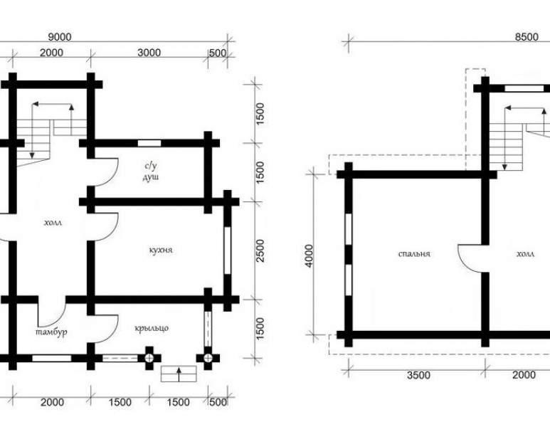 Дом из кругляка ОБ-12 (нажмите для увеличения)