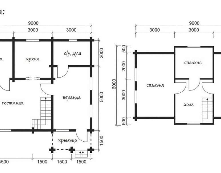 Дом из оцилиндрованного бруса ОБ-13 (нажмите для увеличения)