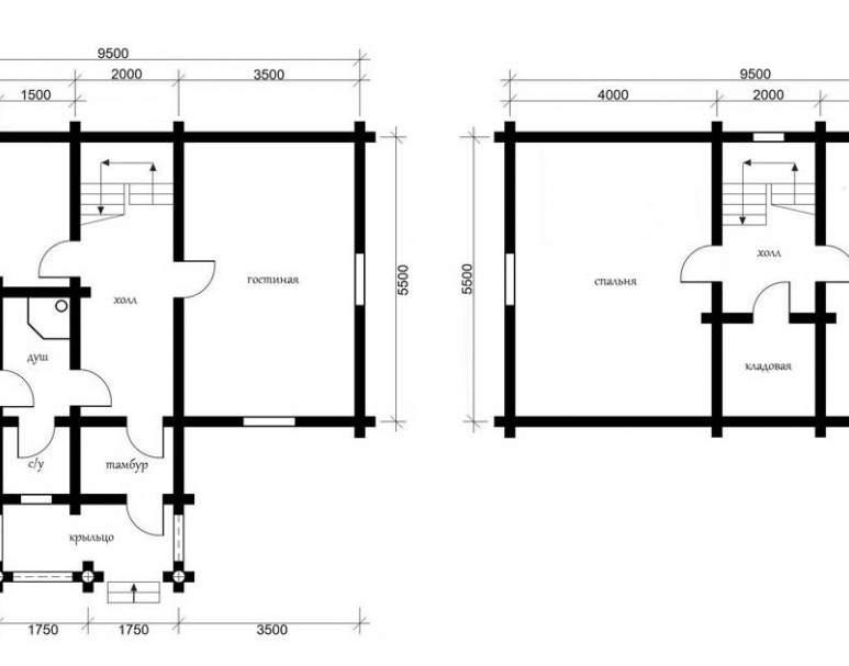 Дом из кругляка ОБ-06 (нажмите для увеличения)