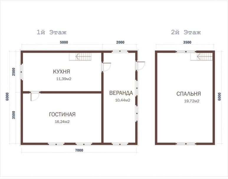 Дом из бруса ДД-19 (нажмите для увеличения)