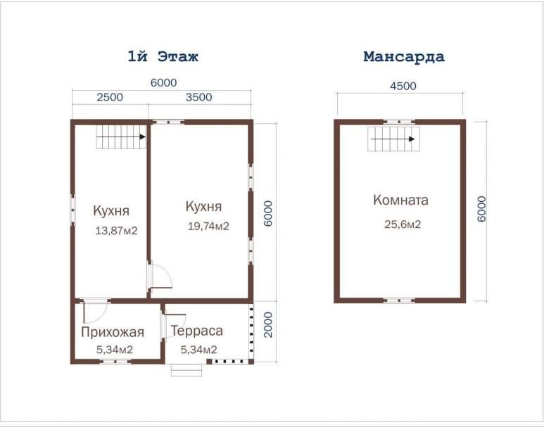 Дом из бруса ДД-25 (нажмите для увеличения)