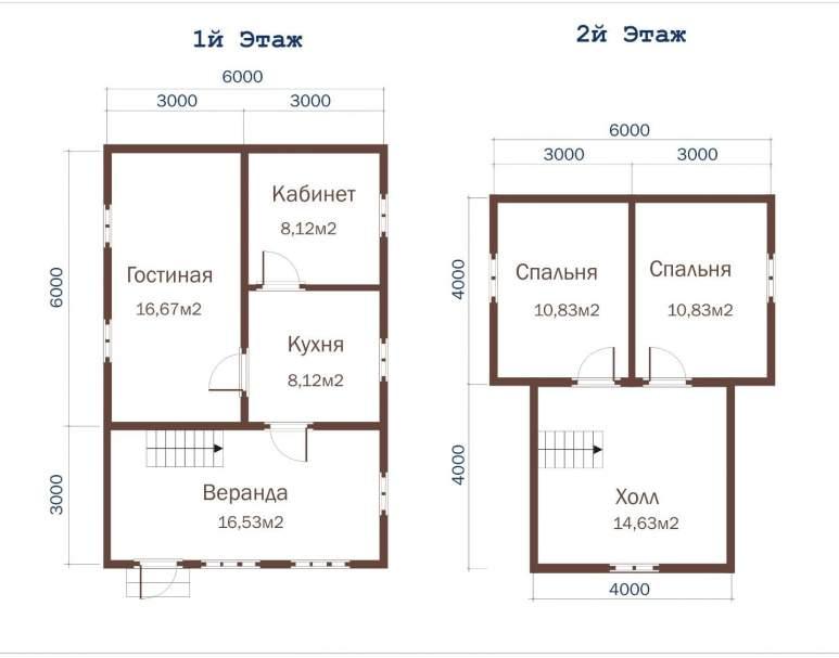 Дом из бруса ДД-26 (нажмите для увеличения)
