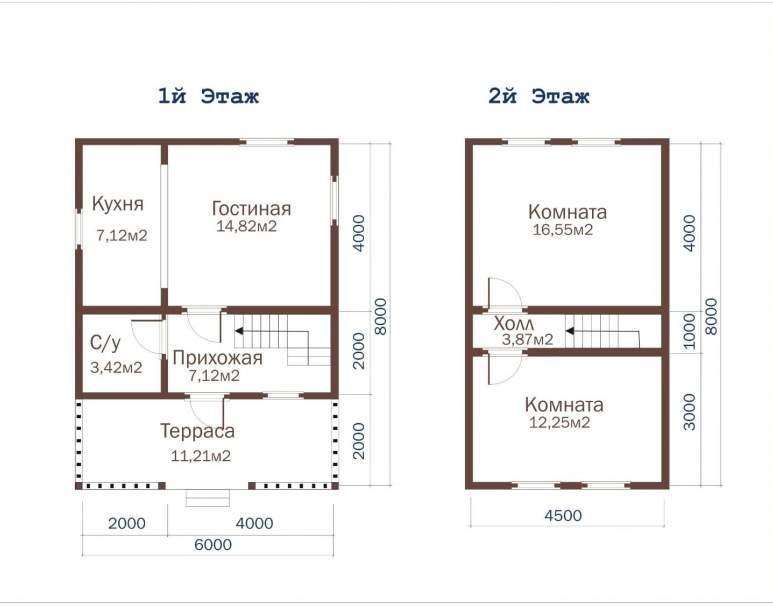 Дом из бруса ДД-27 (нажмите для увеличения)