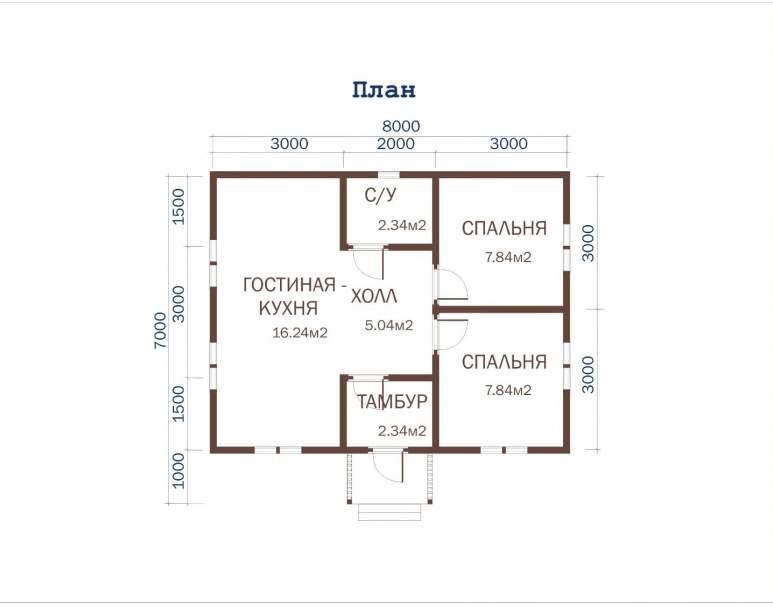 Дачный дом ДД-30 (нажмите для увеличения)
