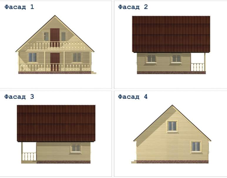 Дом из бруса ДД-32 (нажмите для увеличения)