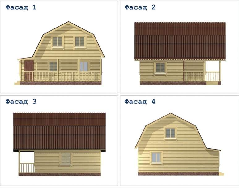 Дачный дом из бруса ДД-35 (нажмите для увеличения)