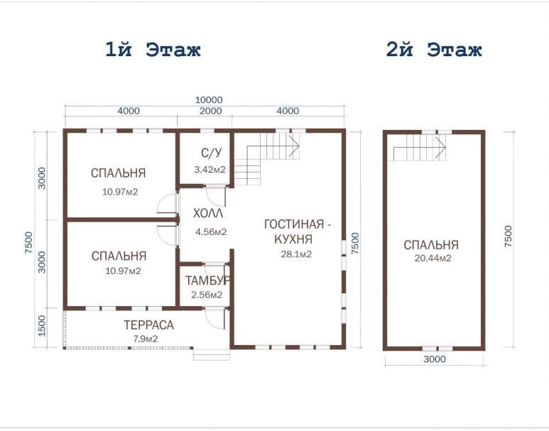 Дачный дом ДД-38 (нажмите для увеличения)