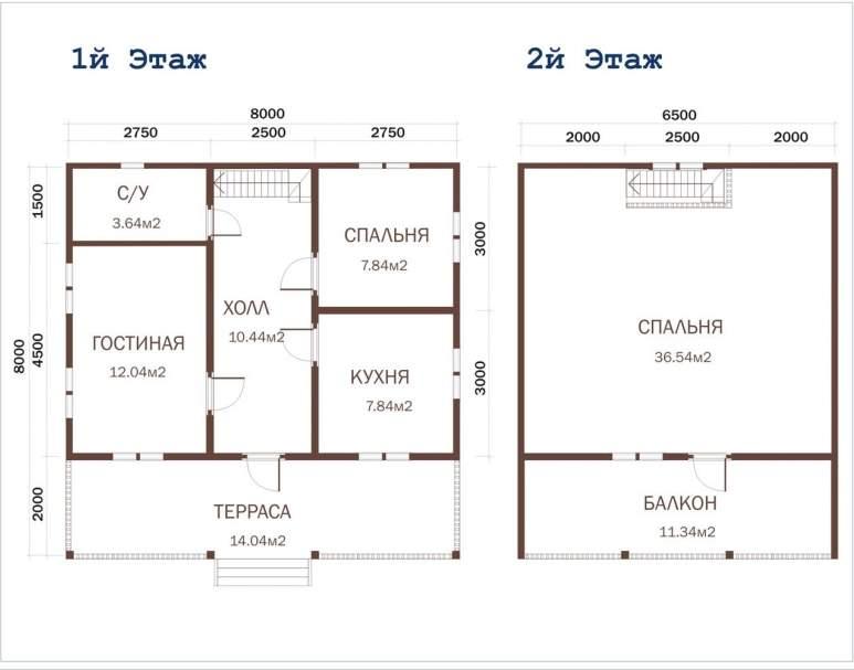 Дачный дом из бруса ДД-39 (нажмите для увеличения)
