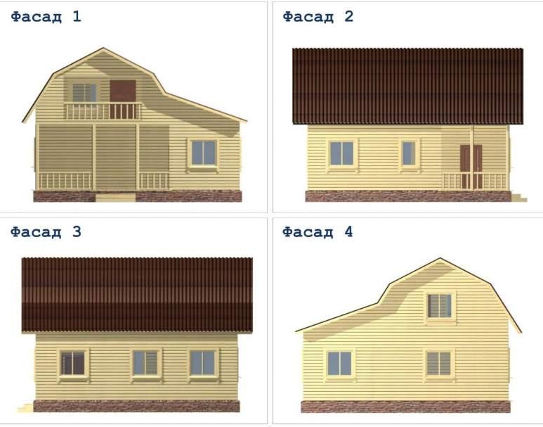 Дачный дом ДД-40 (нажмите для увеличения)