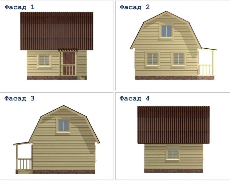 Дачный дом ДД-4 (нажмите для увеличения)