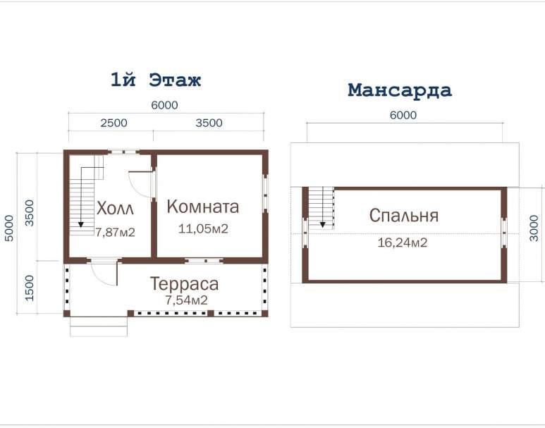 Дом из бруса ДД-6 (нажмите для увеличения)