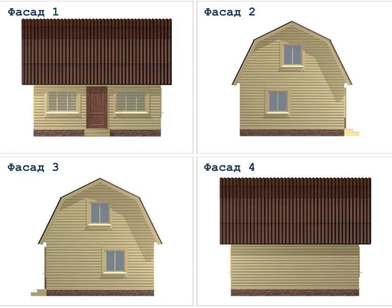 Дом из бруса ДД-8 (нажмите для увеличения)