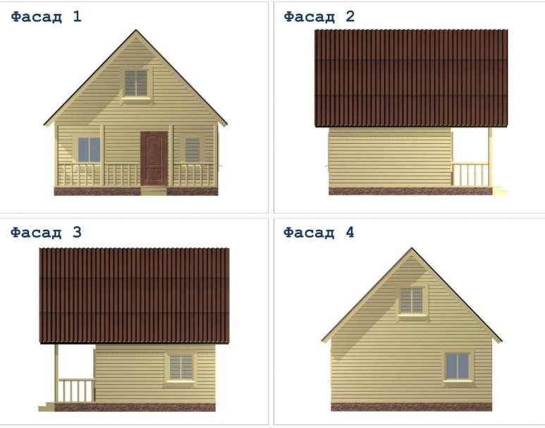 Дачный дом ДД-10 (нажмите для увеличения)
