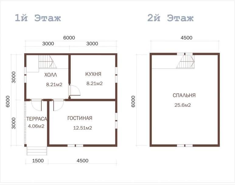Дачный дом из бруса ДД-11 (нажмите для увеличения)