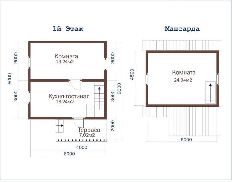 Дом из бруса ДД-15 (нажмите для увеличения)
