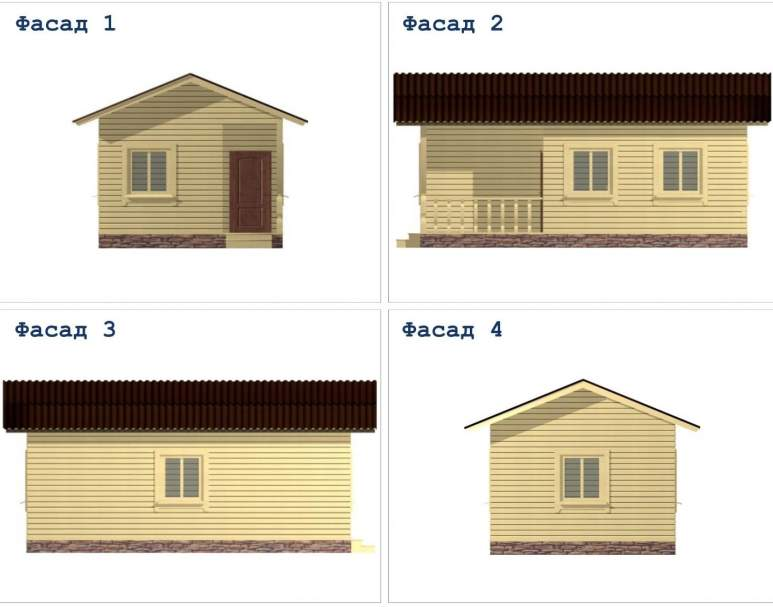 Дом из бруса ДД-16 (нажмите для увеличения)