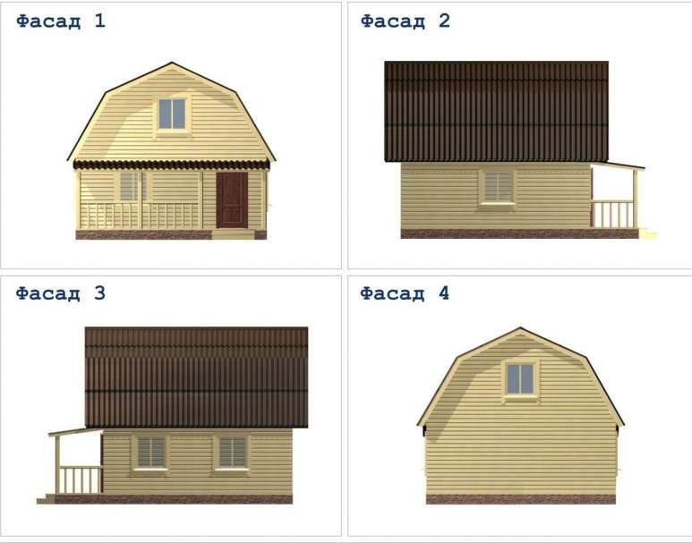 Дачный дом из бруса ДД-17 (нажмите для увеличения)