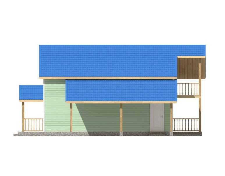 Каркасный дом КСД-09 (нажмите для увеличения)